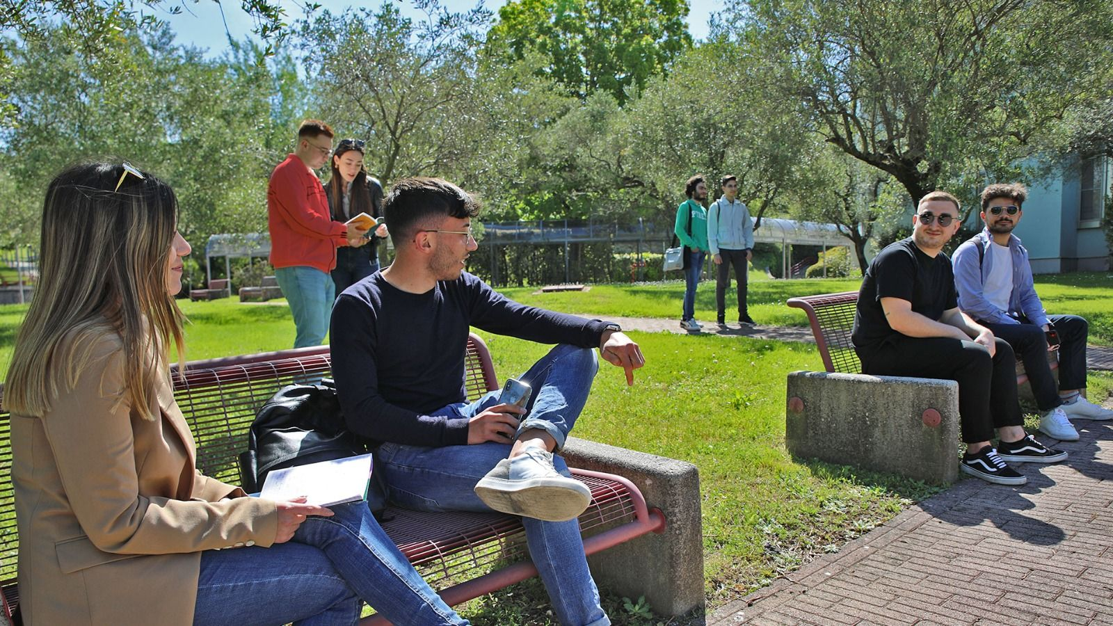 students talking to each other in salerno university