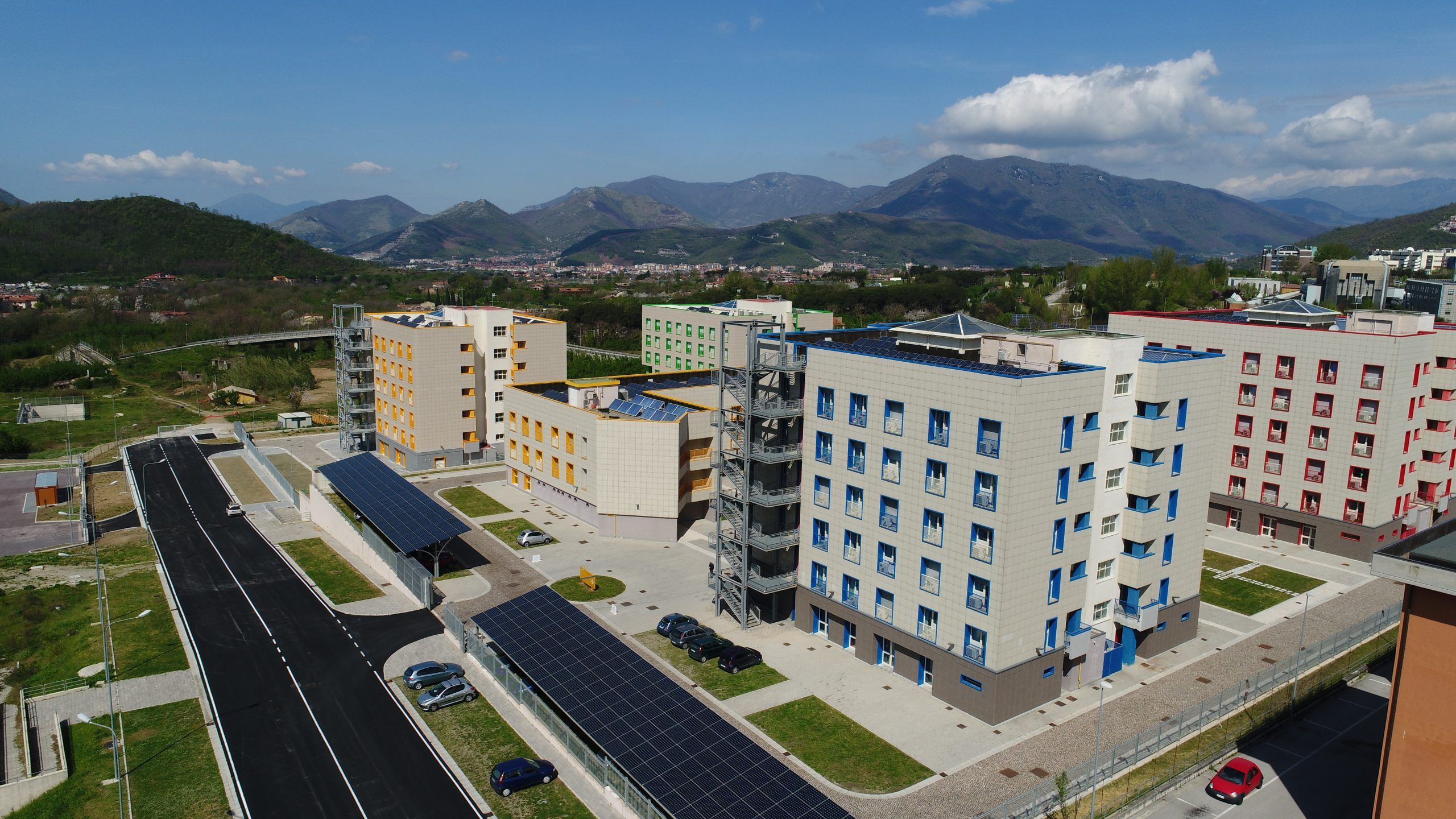 student residence building in salerno